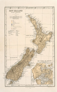 NZ Map, 1864, Sir George Grey Special Collections, Auckland Libraries, NZ Map 5694. No known copyright.