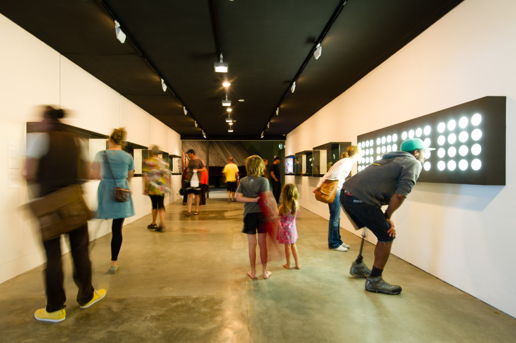 Visitors at the The Dowse Art Museum. Photographer Mark Tantrum, courtesy of The Dowse Art Museum, New Zealand