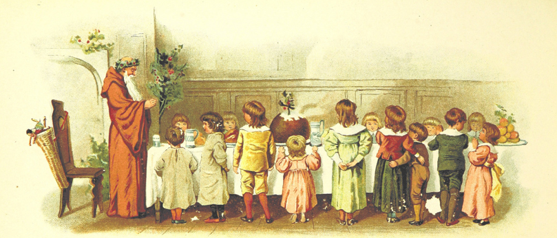 Image taken from page 16 of 'The Coming of Father Christmas'